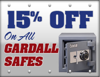15% Off all Gardall Safes
