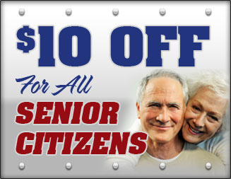 Senior Citizens save $10 on all locksmith services